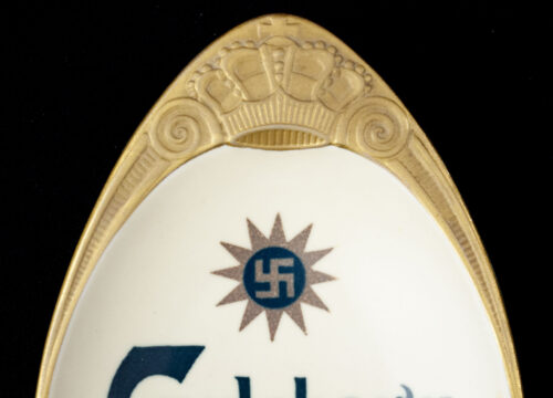 (Denmark) Carlsberg Beer Ashtray with swastika (1920's30's) RARE!