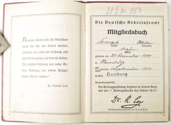 Deutsche Arbeitsfront (DAF) Mitgliedsbuch