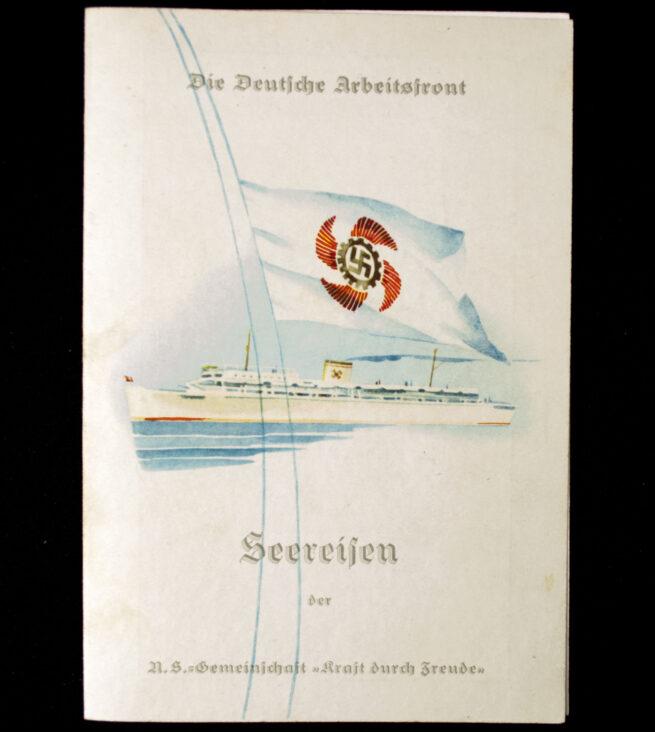 Die Deutsche Arbeitsfront (DAF) N.S. Gemeinschaft Kraft duch Freude (KDF) Menu card