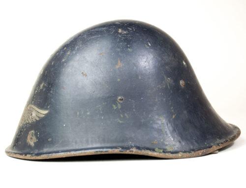 Dutch M27 beutehelm (!) used as Reichsluftschutzbund (RLB) Helmet