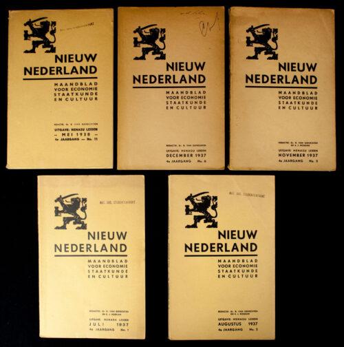 (NSB) Magazine Nieuw Nederland 1937 - 4 editions