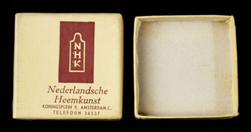 (NSB) Nederlandsche Heemkunst cultural Sun-Spiral runic brooch with original case (EXTREMELY RARE!)