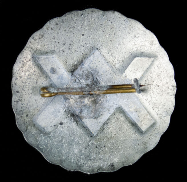 (NSB) Nederlandsche Heemkunst cultural Sunwheel runic brooch with original case (EXTREMELY RARE!)