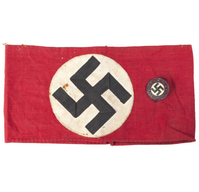 NSDAP amband + memberbadge