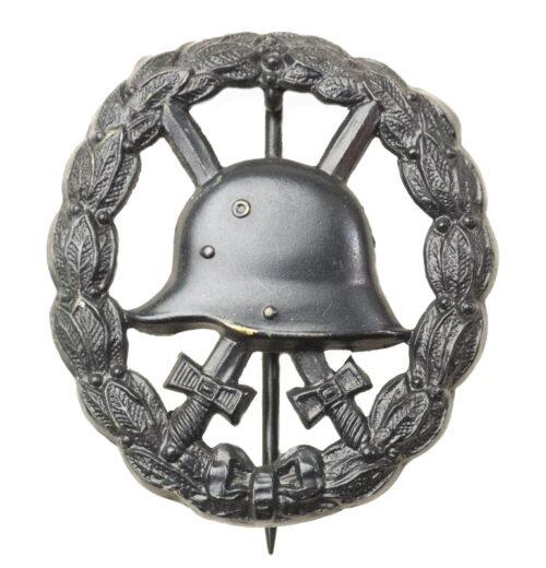 WWI Verwundetenabzeichen Schwarz durchbrochen Woundbadge in black open