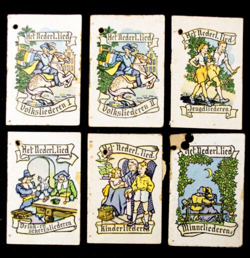 Winterhulp Nederland (WHN) – Het Nederlandsche Lied - 6 boekjes (1944)