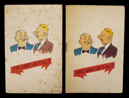 (Booklet) Zeg, Weet je 't al (2x)