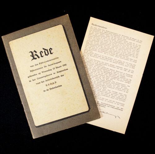 (Brochure) Rede van den Rijkscommissaris Rijksminister Dr. Seyss-Inquart (1941)