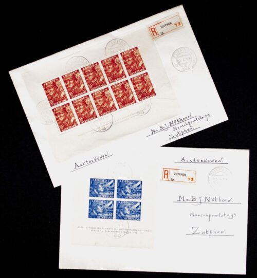 Dutch SS Dutch Volunteer Legion stamps on enveloppes postally sent in 1943