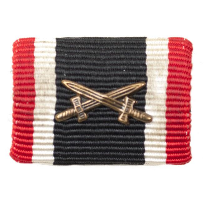 Kriegsverdienstkreuz MitSchwerter Feldspange War Merit Cross with swords single ribbon