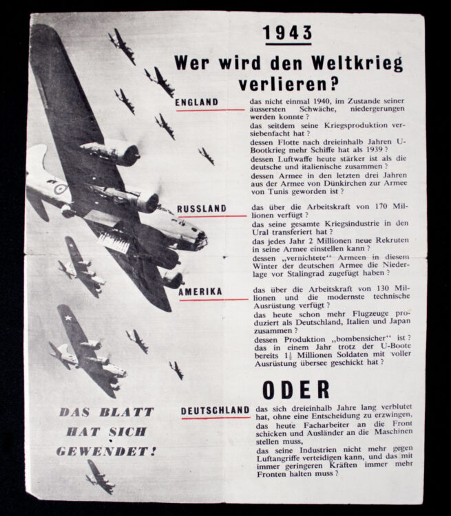 (Leaflet) 1939 Wer hat den Blitzkrieg gewollt G.26 (1943)