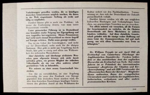 (Leaflet) An die Deutschen Christen G.61 (1942)