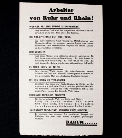 (Leaflet) Arbeiter von Ruhr und Rhein! WG.11 (19441945)