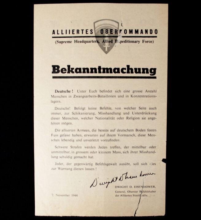 (Leaflet) Do Polakow W Niemczech - Alliertes oberkommando WG.22p (1944)