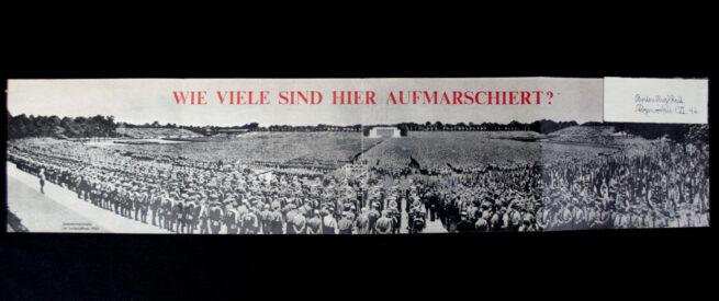 (Leaflet) Frage Wieviel sind hier aufmarschiert G.17 (1942) - VERY LARGE!