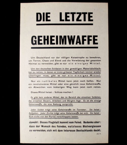 (Leaflet) V_Waffen hätten es auch nicht geschäfft - Die Letzte Geheimwaffe ZG.71