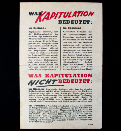 (Leaflet) Was Kapitulation bedeutet ZG-97.k (1945)