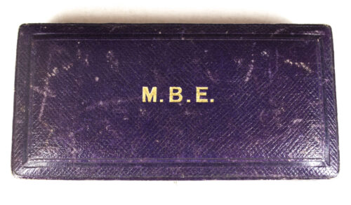 (M.B.E) Member of the Order of the British Empire + case