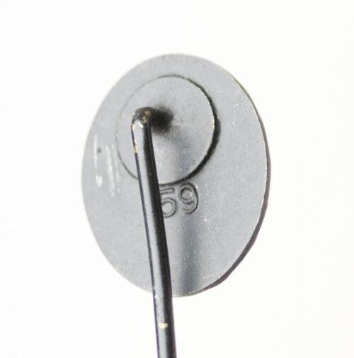 Miniature Woundbadge in black Schwarzes Verwundetenabzeichen maker L59