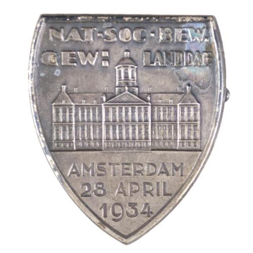 NSB Gewestelijke Landdag Amsterdam 28 April 1934 badge