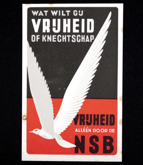 (NSB) Postcard Wat wilt Gij vrijheid of Knechtschap