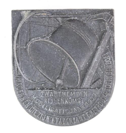 (NSB) Zwarthemden Bijeenkomst Mobilisatiejaar 1939 badge