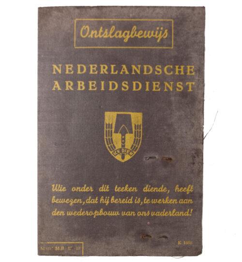 Nederlandsche Arbeidsdienst (NAD) Ontslagbewijs 1943 - with passphoto (from Bergen op Zoom)