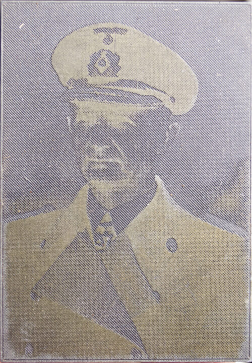 "Original newspaper photo ""Druckplatte"" (printing plate) of Großadmiral Karl Dönitz"