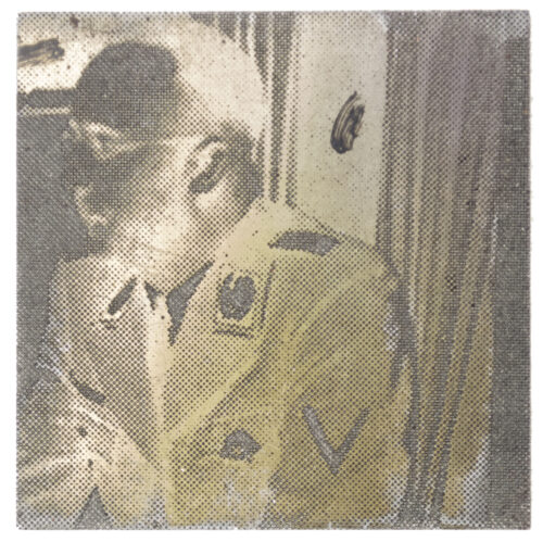 "Original newspaper photo ""Druckplatte"" (printing plate) of Reichsfuhrer SS Heinrich Himmler"
