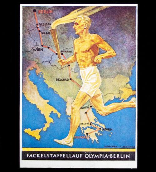 (Postcard) Fackelstaffellauf Olympia-Berlin 1936
