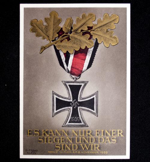 """Postcard Gottfried Klein """"Iron Cross"""" Es kann nur einer siegen und das sind wir!"""
