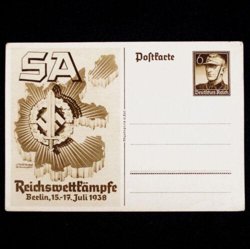 (Postcard) SA Reichswettkämpfe Berlin, 15.-17. Juli 1938
