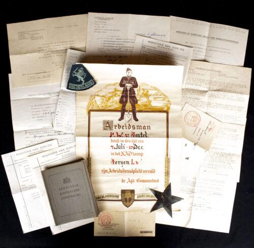 WOII Nederlandsche Arbeidsdienst (NAD) Arbeidsdienstplicht Service Citation + papergroup