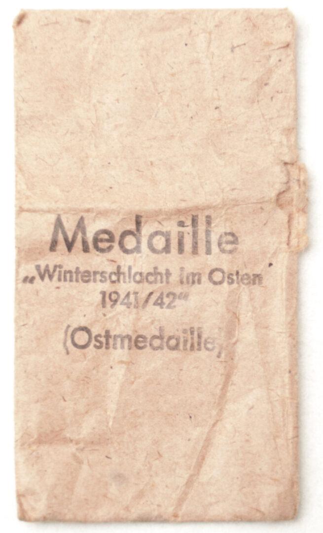 Winterschlacht im Osten Ostmedaille + bag by maker Katz & Deyle