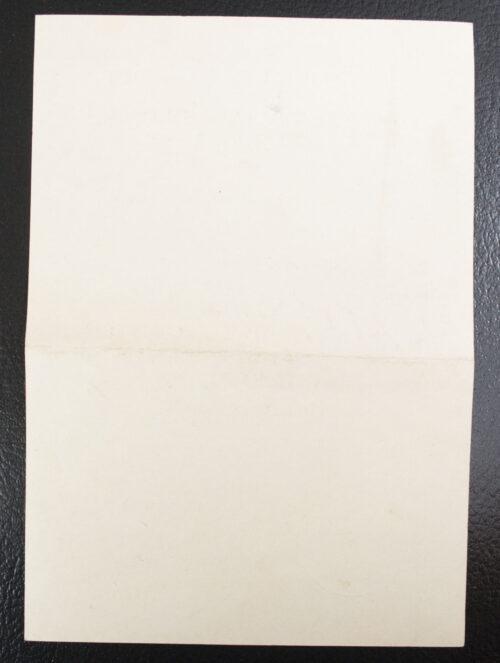 Winterschlacht im Osten Urkunde Ostmedaille Citation 1942