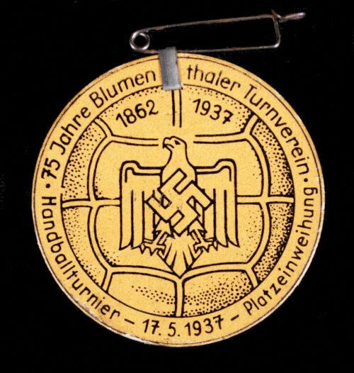 75. Jahre Blumenthaler Turnverein - Handballturnier 17.5.1937 Platzeinweihung