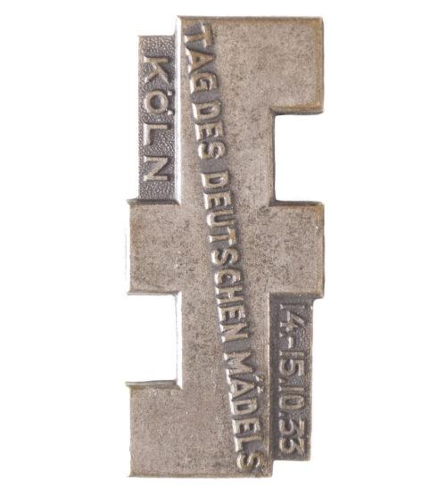 (BDM) Tag des Deutschen Mädels 14.-15.10.1933 Köln badge