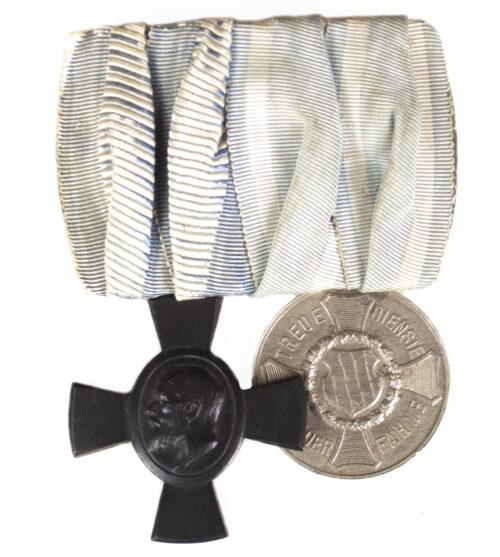 BayernBavaria medalbarordensspange with König-Ludwig-Kreuz 1916 + Dienstauszeichnung III Klasse