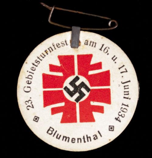 Blumenthal 23. Gebietsturnfest am 16. u. 17. Juni 1934