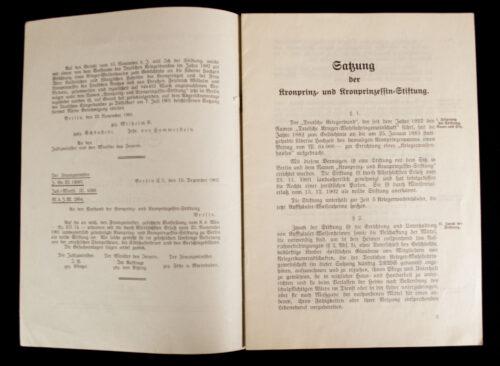 Deutscher Reichskriegerbund (Kyffhäuserbund) E.V Satzung der Kronprinz und Kronprinzessin Stiftung