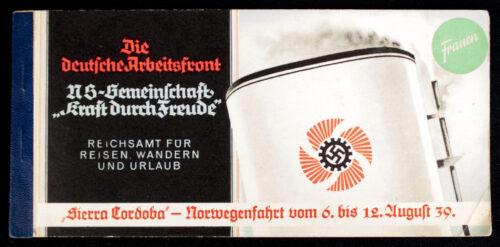 Die Deutsche Arbeitsfront N.S.-Gemeinschaft Kraft durch Freude (KDF) Sierra Cordoba Norwegenfahrt 1939