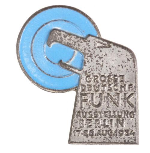 Grosse Deutsche Funk Ausstellung Berlin 17.-26. Aug. 1934 abzeichen