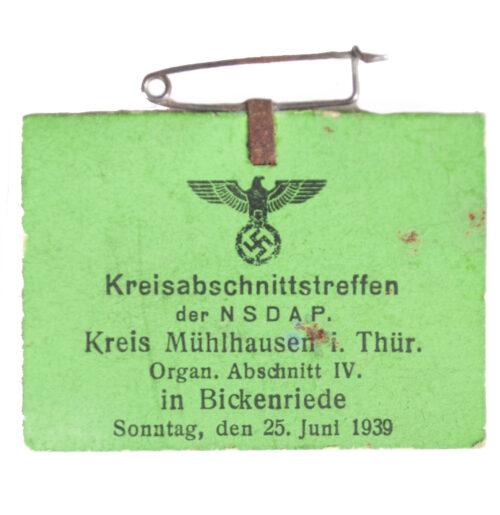 Kreisabschnittstreffen der NSDAP Kreis Mühlhausen i. Thür 1939