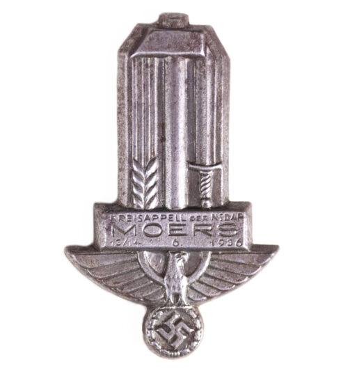 Kreisappel der NSDAP Moers 1314.6. 1936 badge