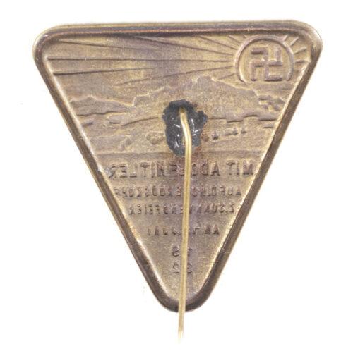 Mit Adolf Hitler auf d. Hoherodskopf z. Sonnewendfeier am 18 Juni 1932 (EARLY KAMPFZEIT badge!)