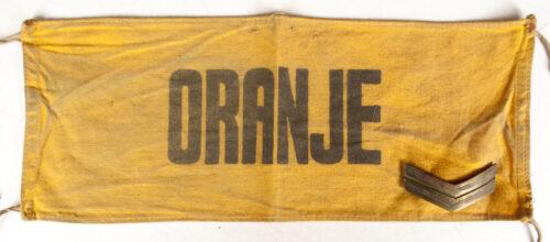 "(NBS) Nederlandsche Binnenlandsche Strijdkrachten ""Oranje"" Armband with rank insignia"