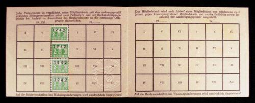 NSDAP Membershipcard Ortsgruppe Feldbergen (1942)