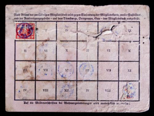 NSDAP Mitgliedskarte 1940 NSDAP membercard (1940)