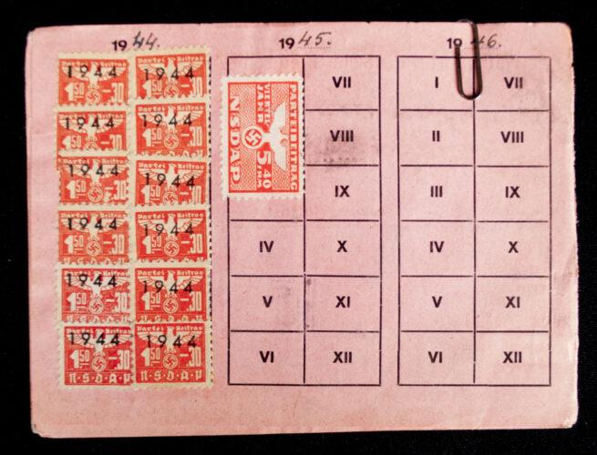 NSDAP Mitgliedskarte 1940 NSDAP membercard from Ried (1940)