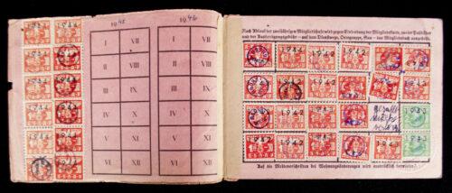 NSDAP Mitgliedskarte 1941 NSDAP membercard from Wien (1941)